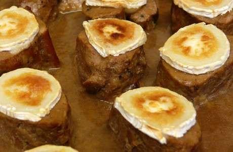 filet de porc rostit amb formatge de cabra