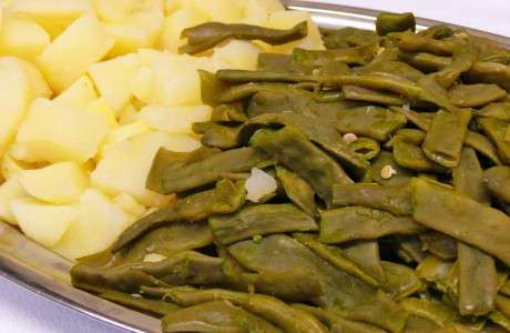 Verdura de mongeta verda amb patata
