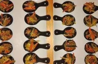 Tataki de tonyina amb verduretes